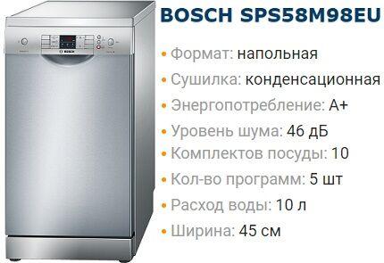 Маркировка посудомоек Бош
