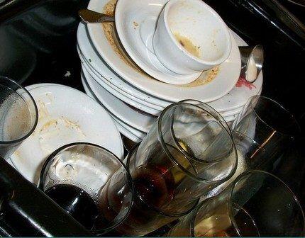 Предварительное замачивание грязной посуды