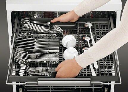 Внутреннее пространство посудомоечной машинки