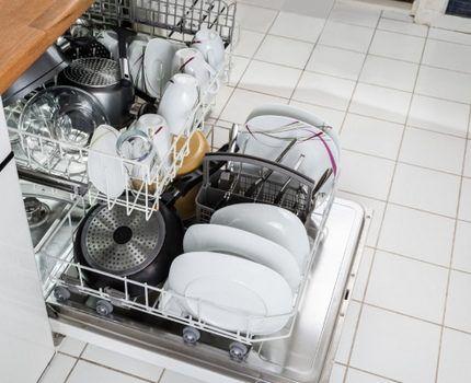 Посудомоечная машина на кухне