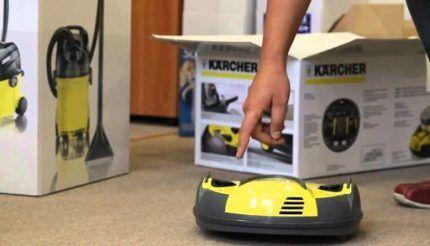 Управление роботом-пылесосом Керхер