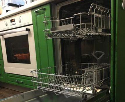 Внутреннее устройство посудомоечной машины