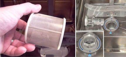 Сливной фильтр посудомойки