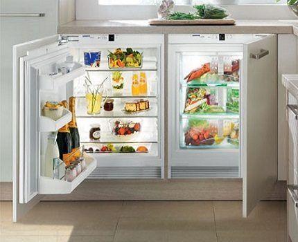 Освещение холодильника