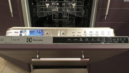 Панель управления посудомойки Электролюкс