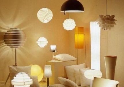 Соответствие светильников и ламп