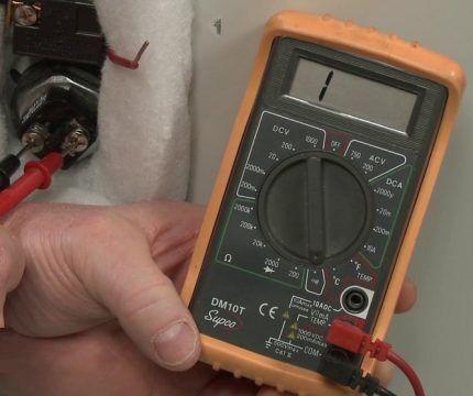 Измерение электрического сопротивления ТЭНа