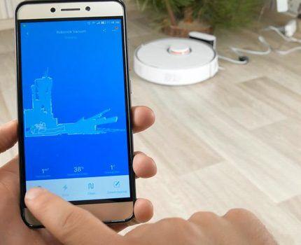 Робот синхронизируется со смартфоном