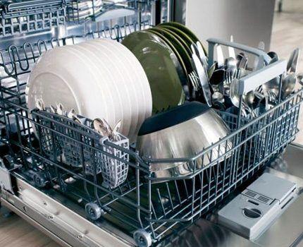 Посудомойка потребляет холодную воду