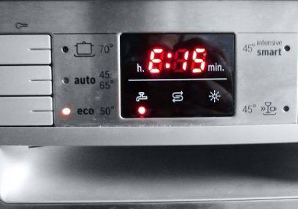 Ошибка Е15 в посудомойке Бош