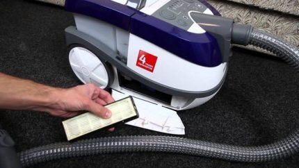 HEPA фильтр моющего пылесоса