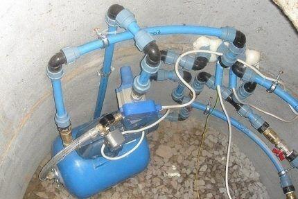 Закачка воздуха в гидробак