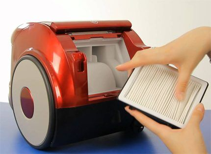 Очистка фильтров пылесоса Samsung