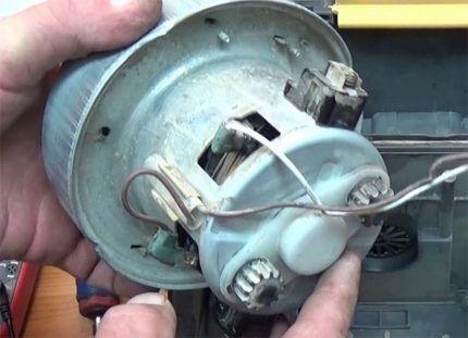 Ремонт электродвигателя пылесоса Самсунг