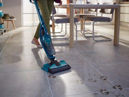 Уборка кухни моющим пылесосм