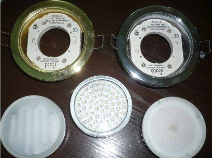 Светильники со встроенными светодиодами