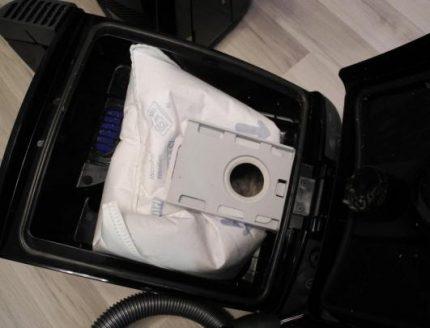 Мешок для пыли с фиксатором