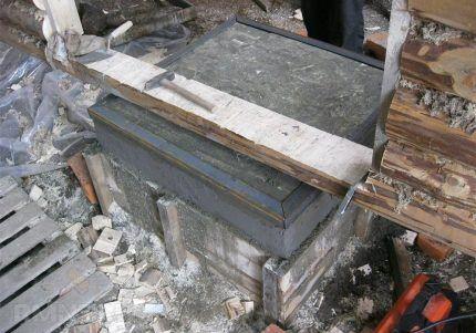 Монолитное бетонное основание под строительство печки
