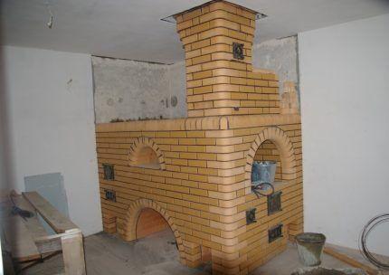 Насадной дымоход на кирпичной печи
