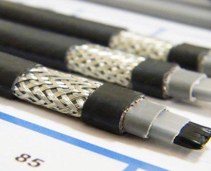 Греющий кабель с металлической оплеткой