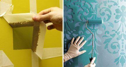 Нанесение латексной краски