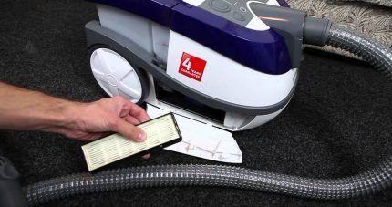 НЕРА-фильтр моющего агрегата