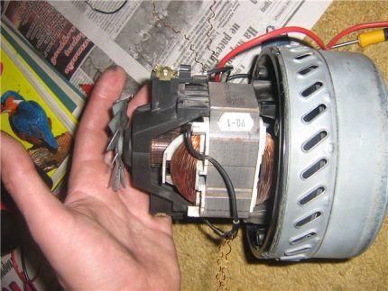 Двигатель устройства, вышедшего из строя