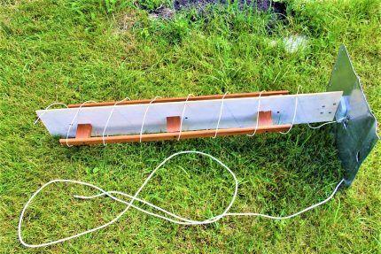 Спиральная антенна в сборке