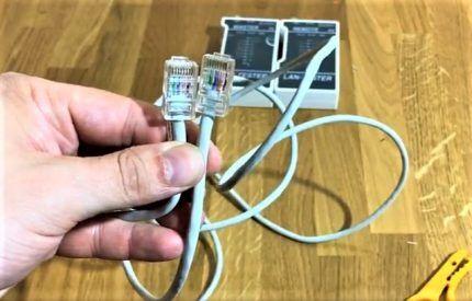 Обжатый сетевой кабель