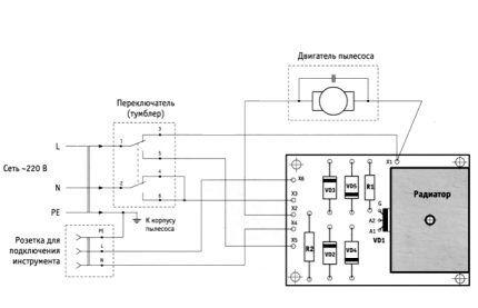 Схема подключения электроустройств