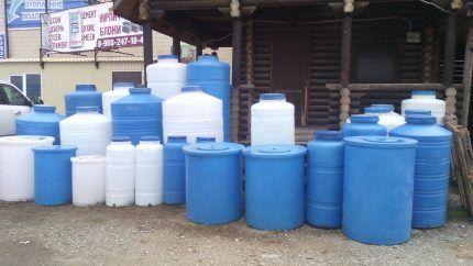 Герметичные резервуары для воды