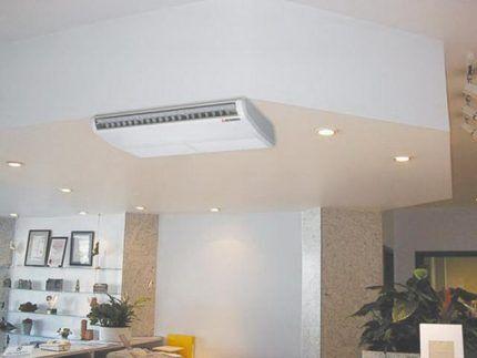 Пример размещения напольно-потолочного устройства