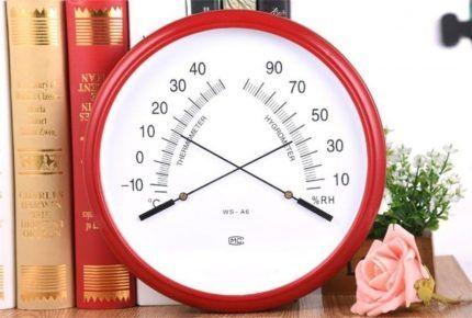 Стильный механический гигрометр