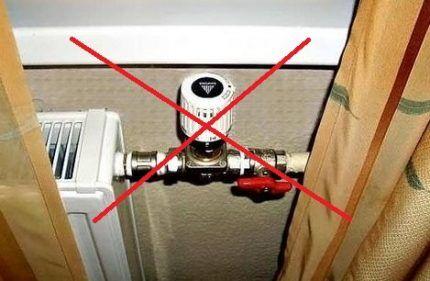 Неправильная установка термоста