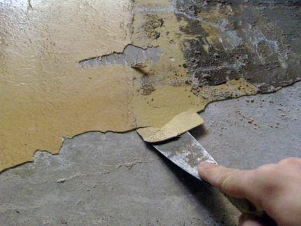 Процедура удаления старой краски