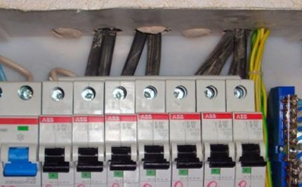 Неправильный ввод кабеля