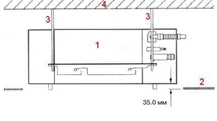 Схема подвеса кассеты