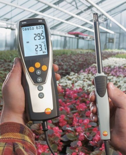 Мобильный теплогигрометр