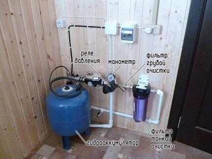 Схема подключения гидроаккумулятора