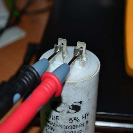 Проверка неполярных конденсаторов