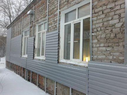Монтаж покрытия без утеплителя