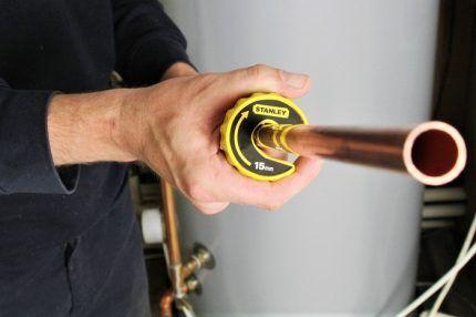 Отрезанный кусок трубы