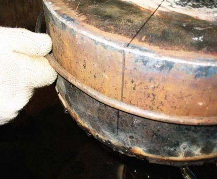 Герметизирующий пруток для печи на отработке