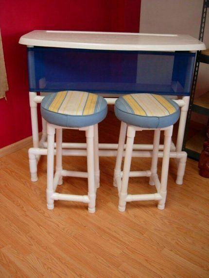 Стол и стулья из пвх труб