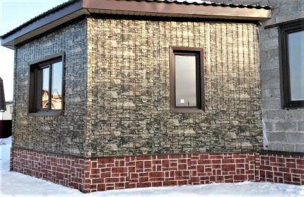 Профлист под камень для отделки фасада