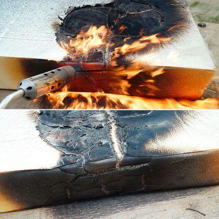 Экструдированный пенополистирол с огнеопасной пропиткой