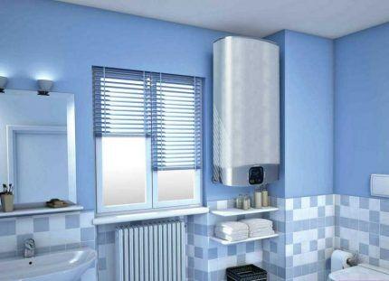Модель в интерьере ванной
