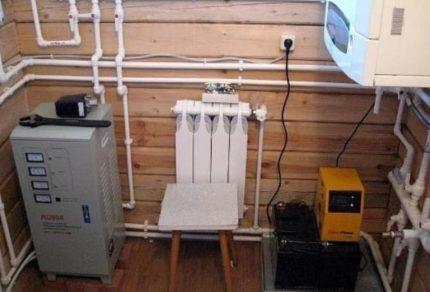 Блок питания для системы отопления