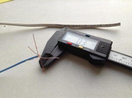 Определение сечения многожильного провода