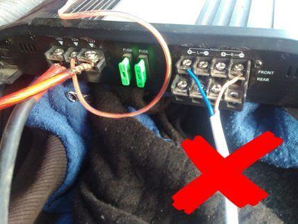 Подключение нагрузки проводами и кабелями